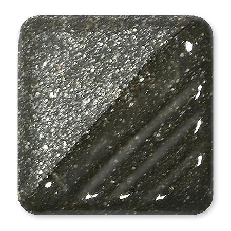 8453 Glimmerengobe Silberschwarz