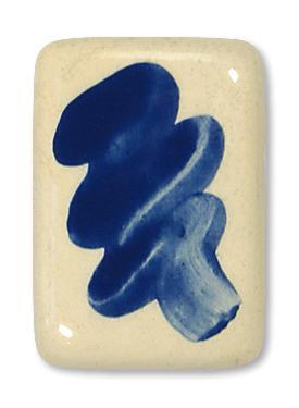 6165K DKF-Knopf Blau